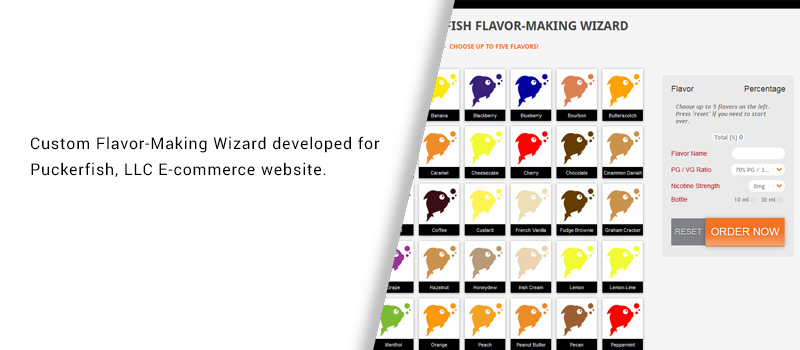 Custom Puckerfish Flavor Making Wizard