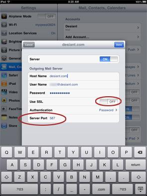iPad Email Setup